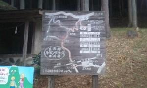 散策コースの案内板です。